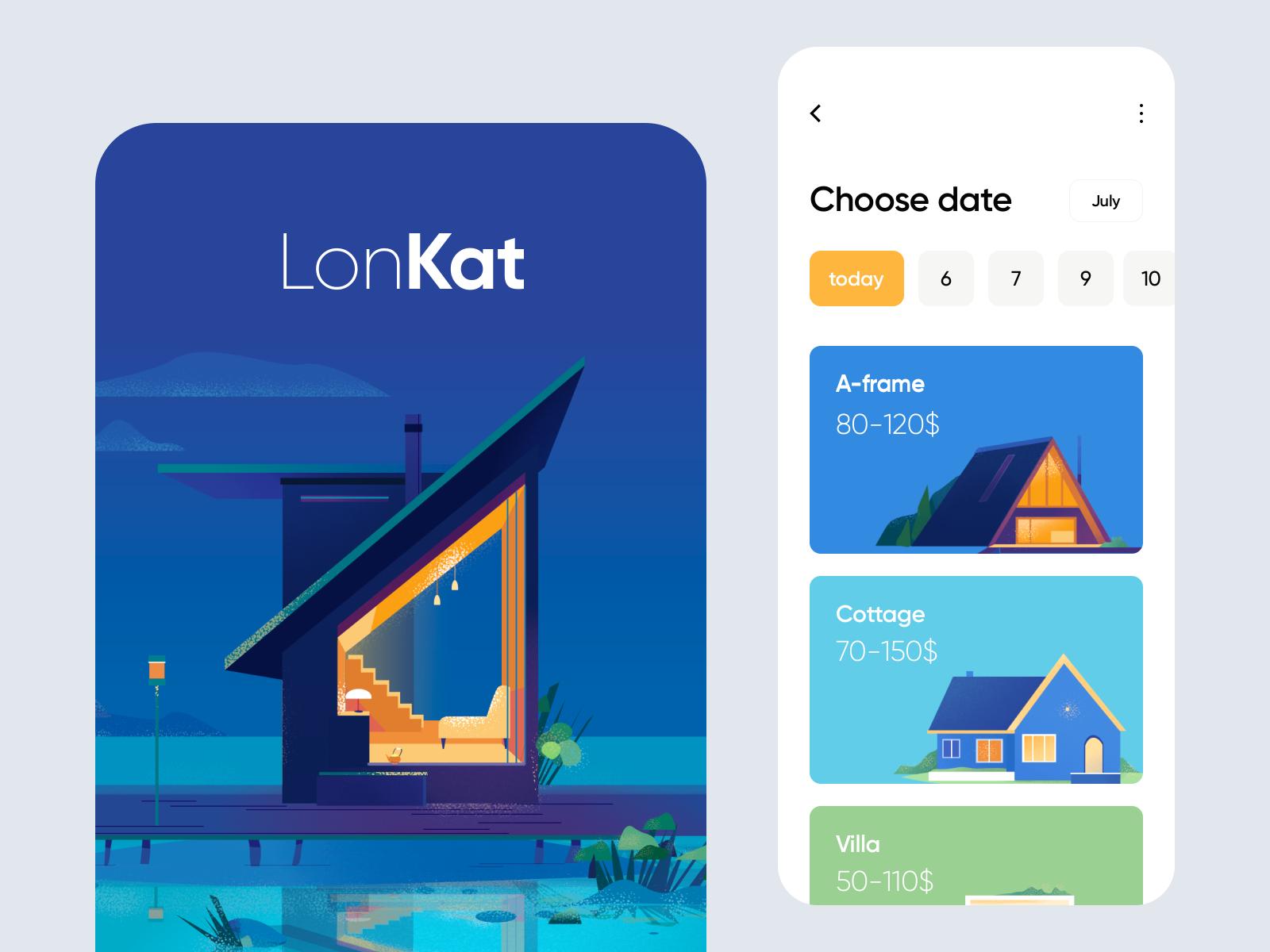 illustrations mobile app design