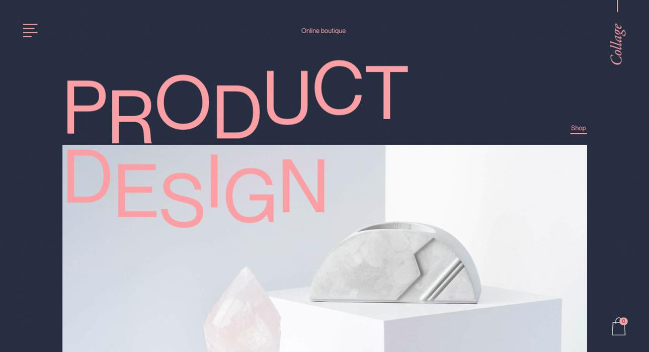 minimalism bold typography