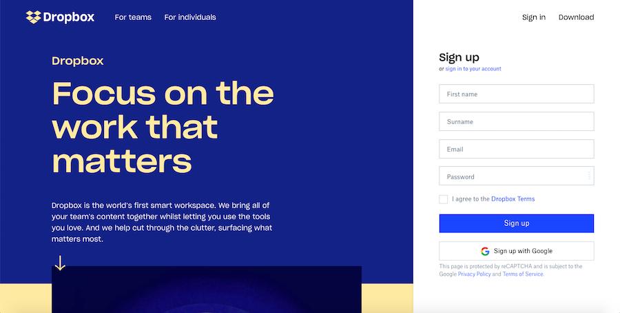 minimalism design for web