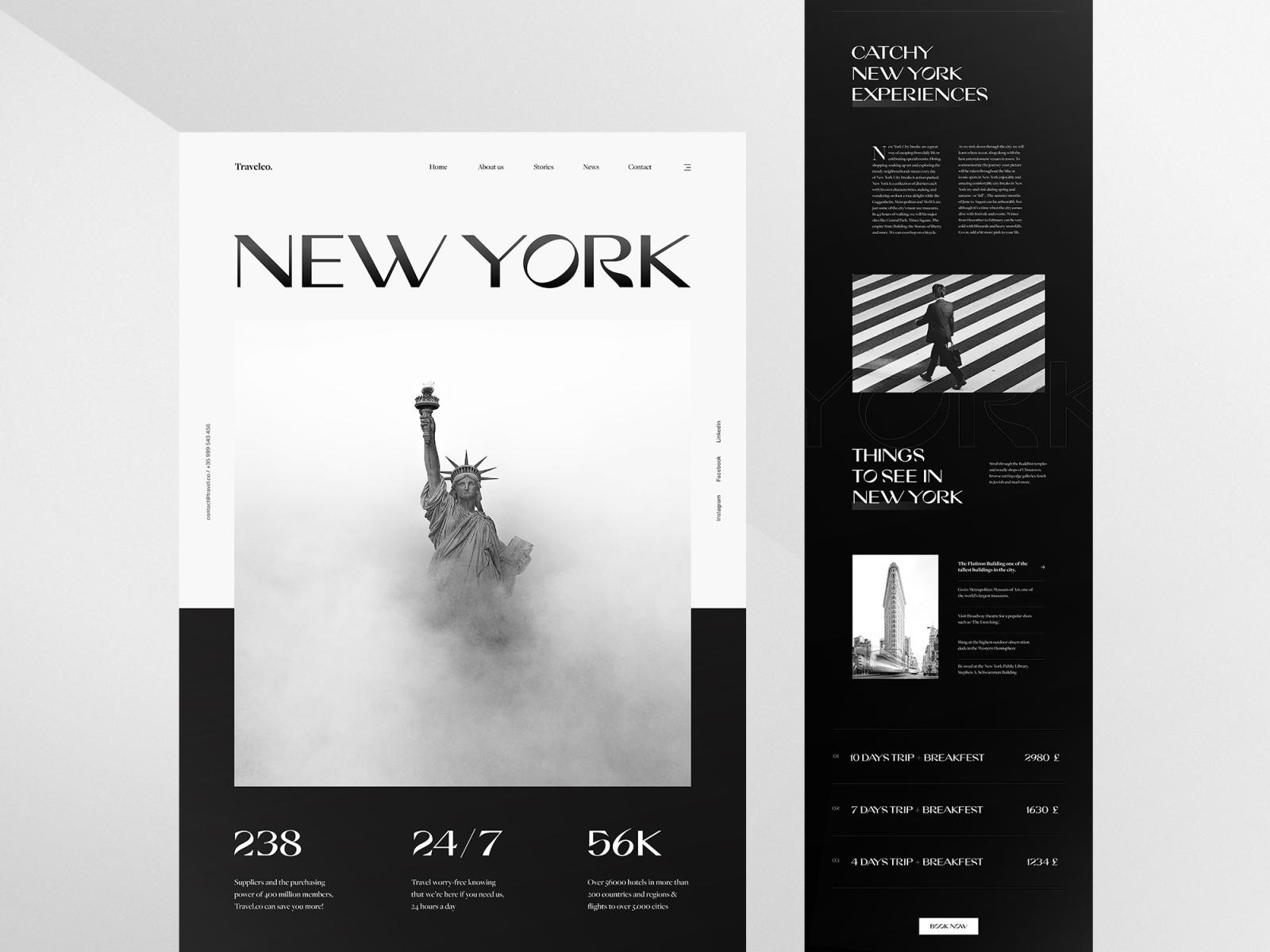 monochrome web design