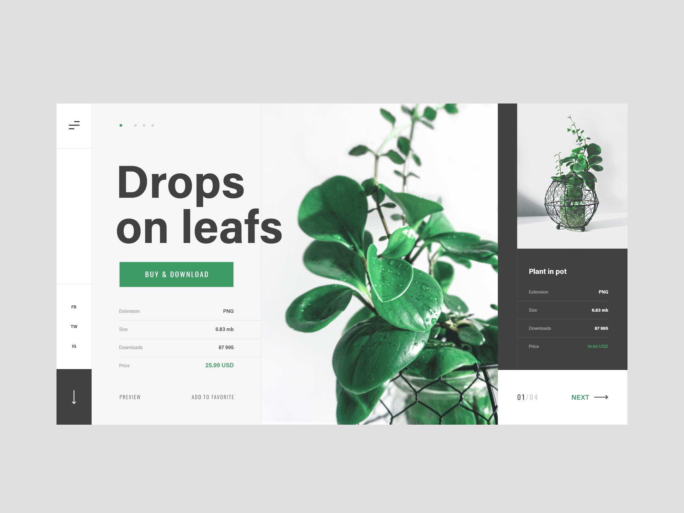 plant website minimalism
