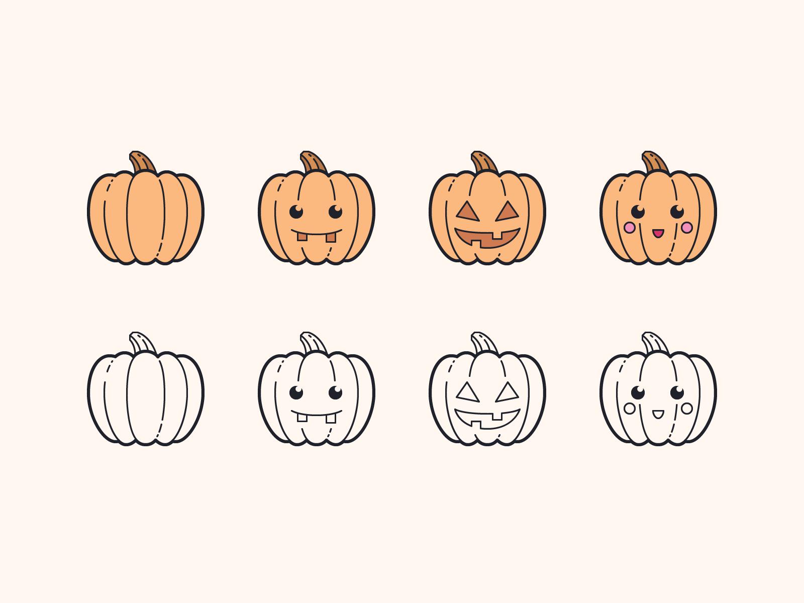 pumpkin icons
