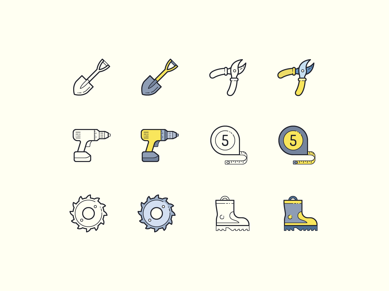 tools icons clipart