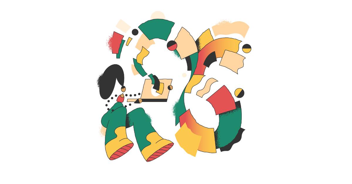 conifer downloading illustration