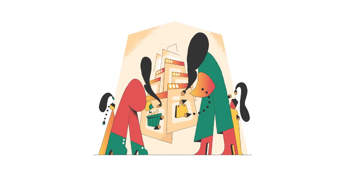 conifer ecommerce illustration