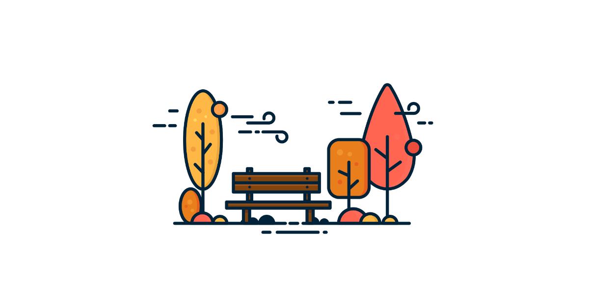 gummy autumn illustration