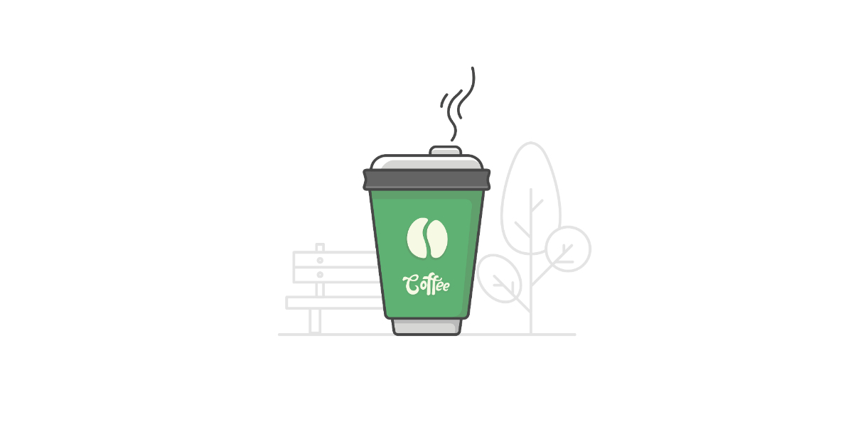 gummy coffee illustration