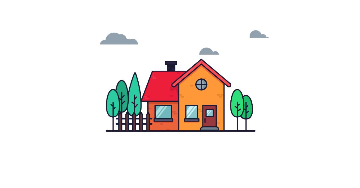gummy house illustration