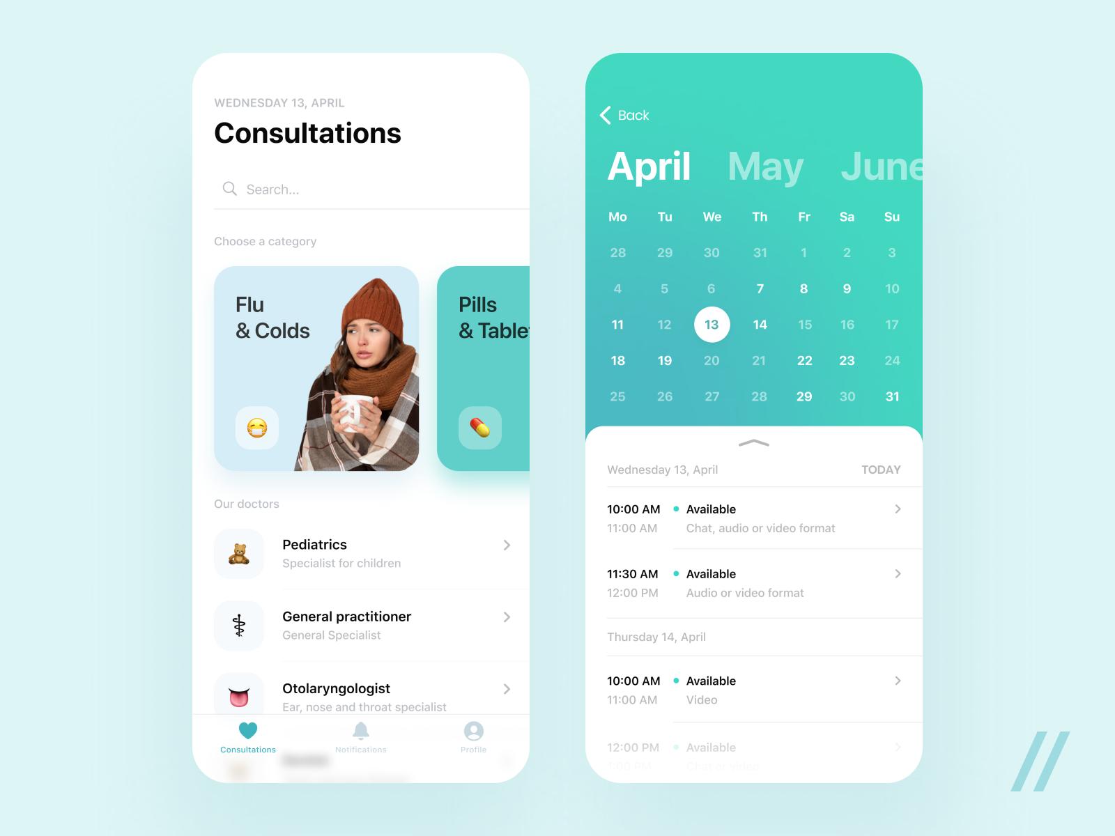 telehealth app concept