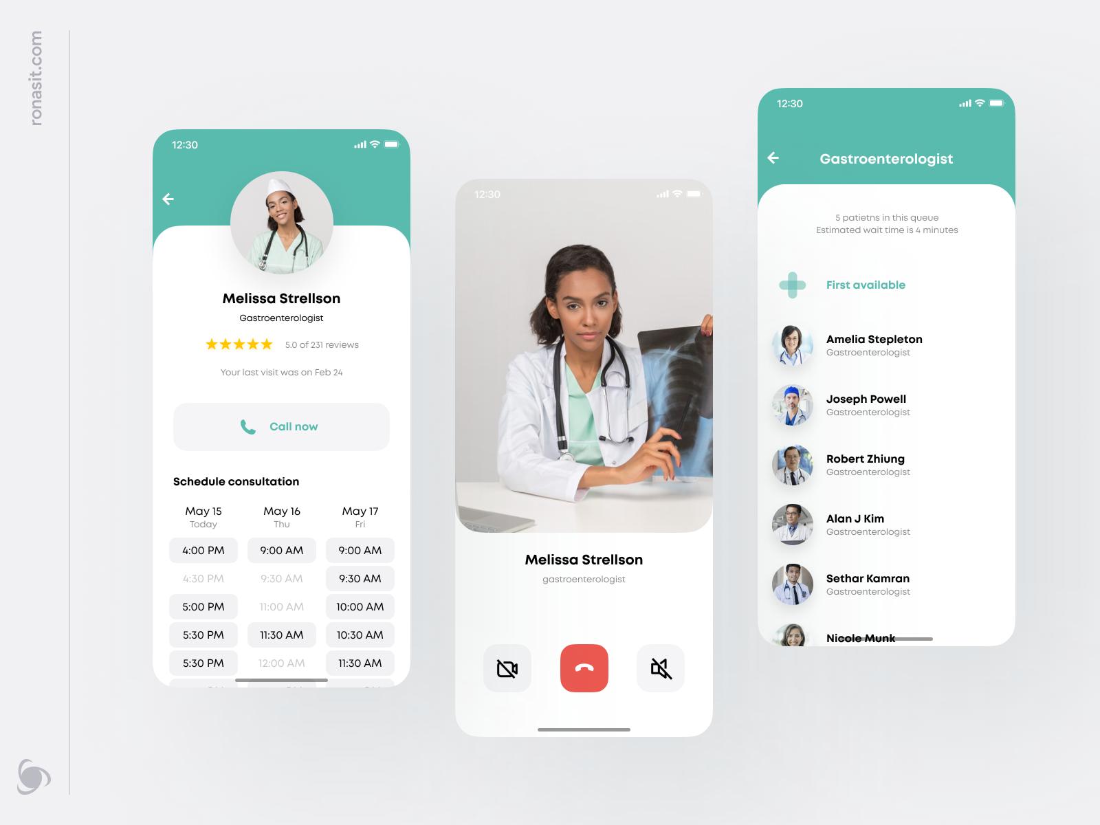 remote healthcare app design