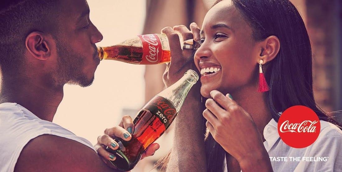 coca cola taste the feeling