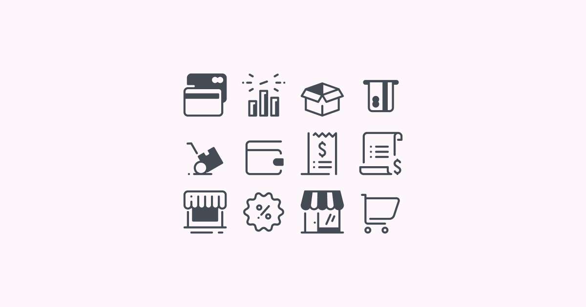 ecommerce clipart icons
