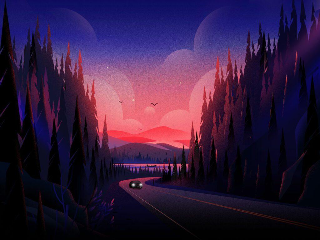 febin raj nature illustrations