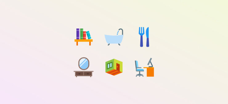 Feel Like Home: Around the House Clipart and Icons in 21 Styles