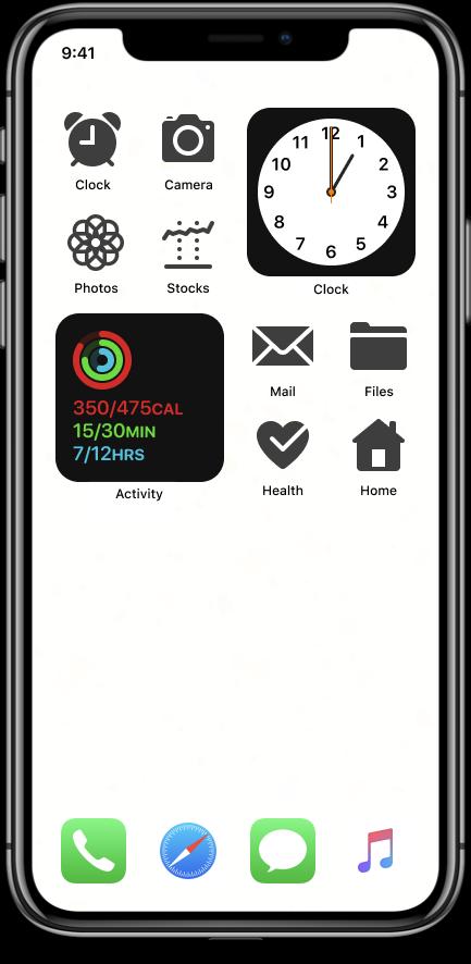 iOS Glyph ios 14 custom widget