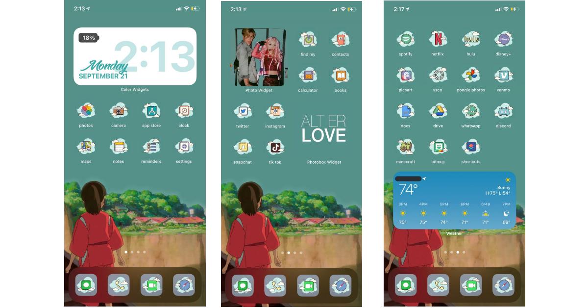 ios widgets examples