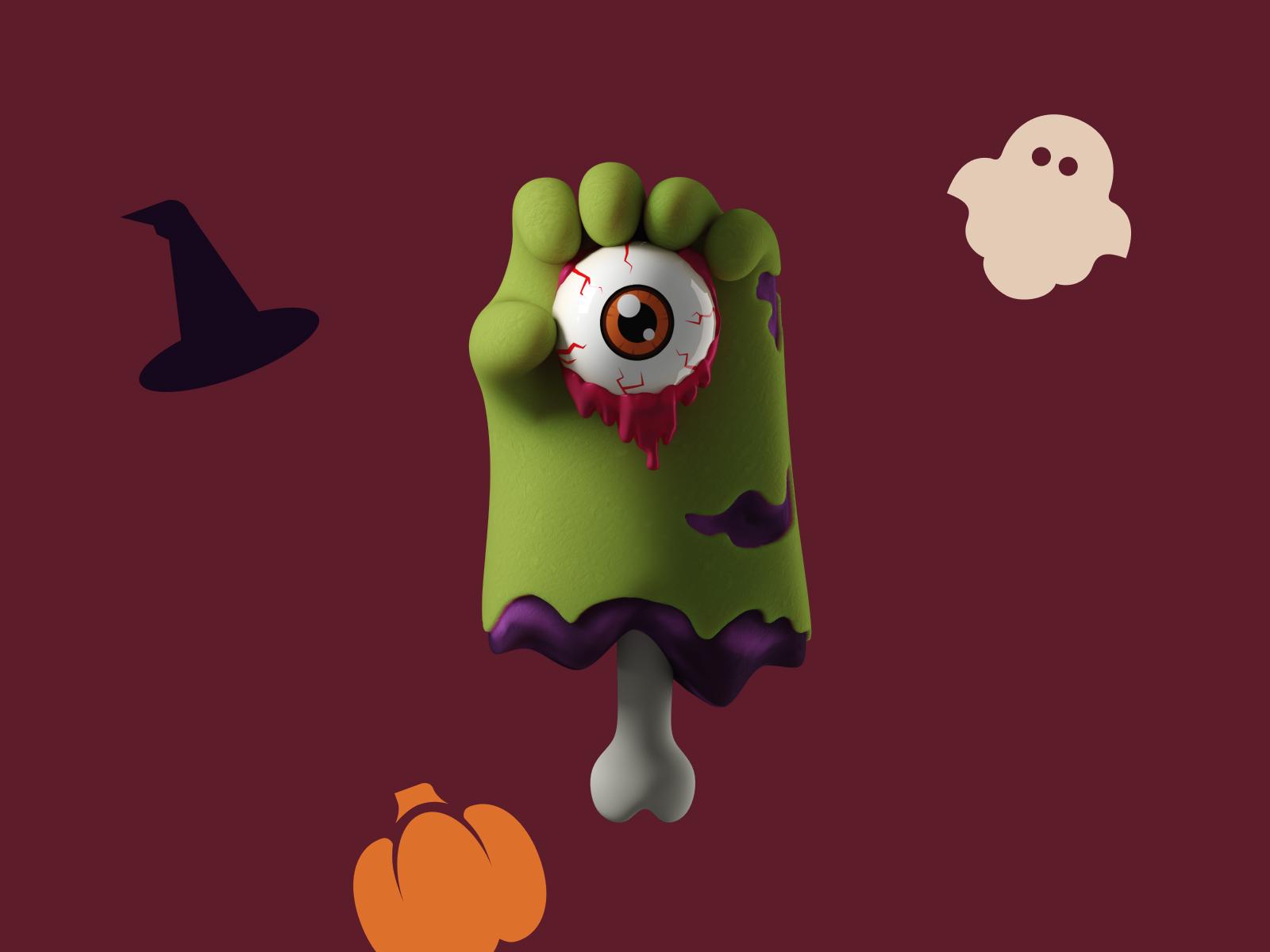 3d graphics zombie hands
