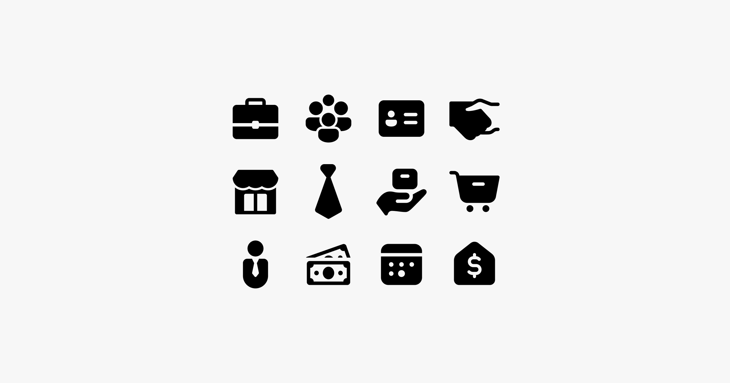 fluent system icons business