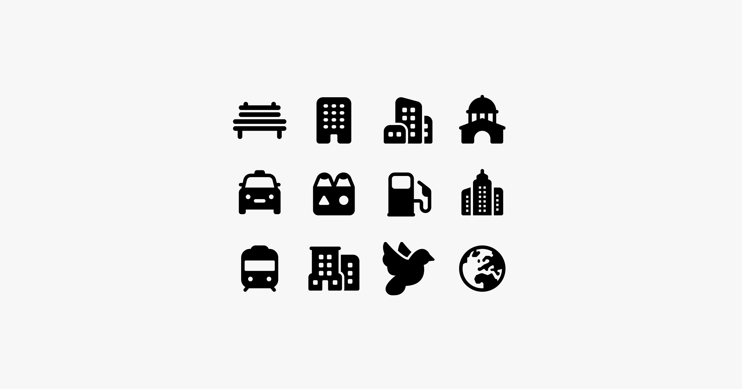 fluent system icons city