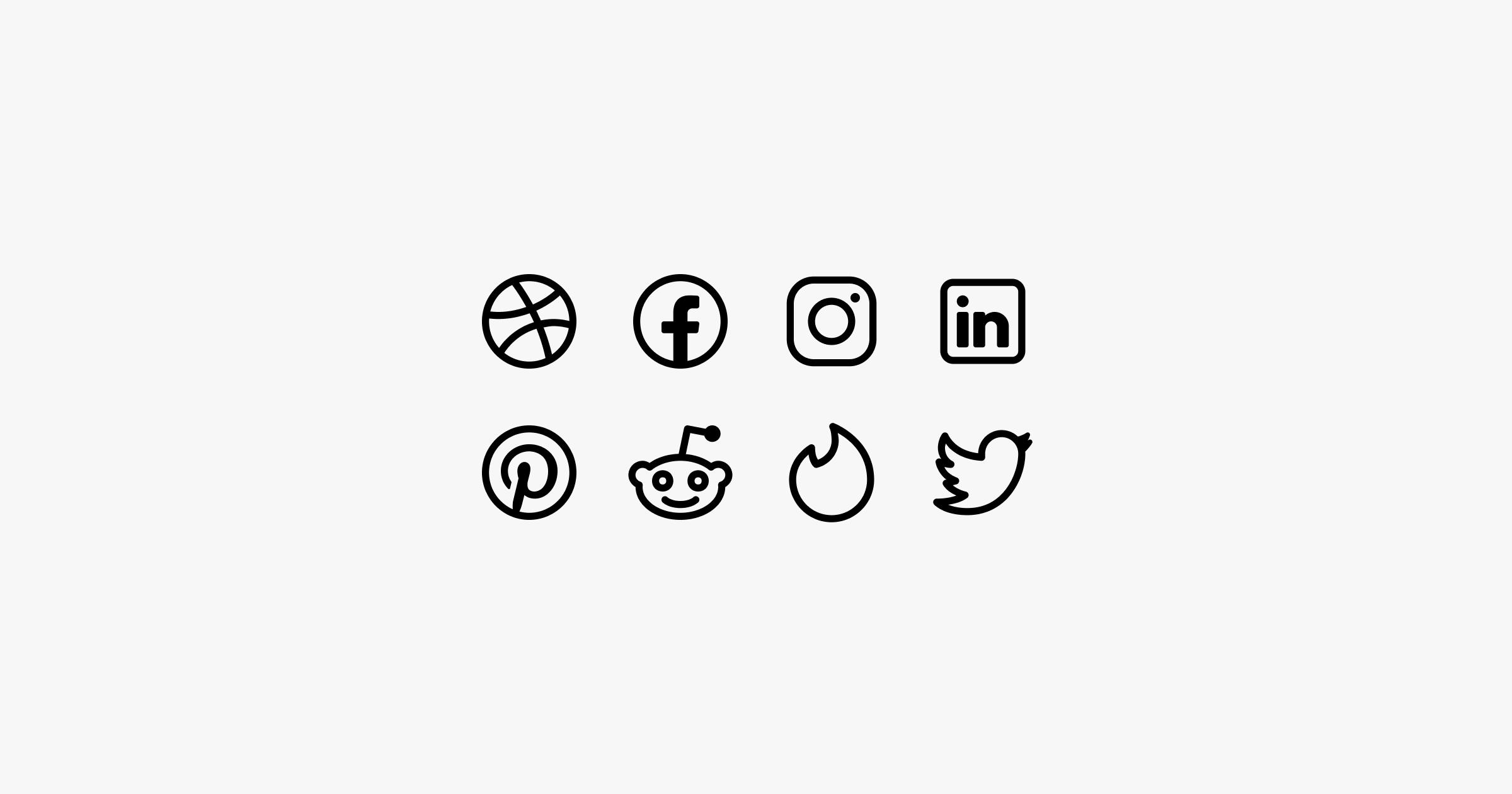 fluent system icons social media
