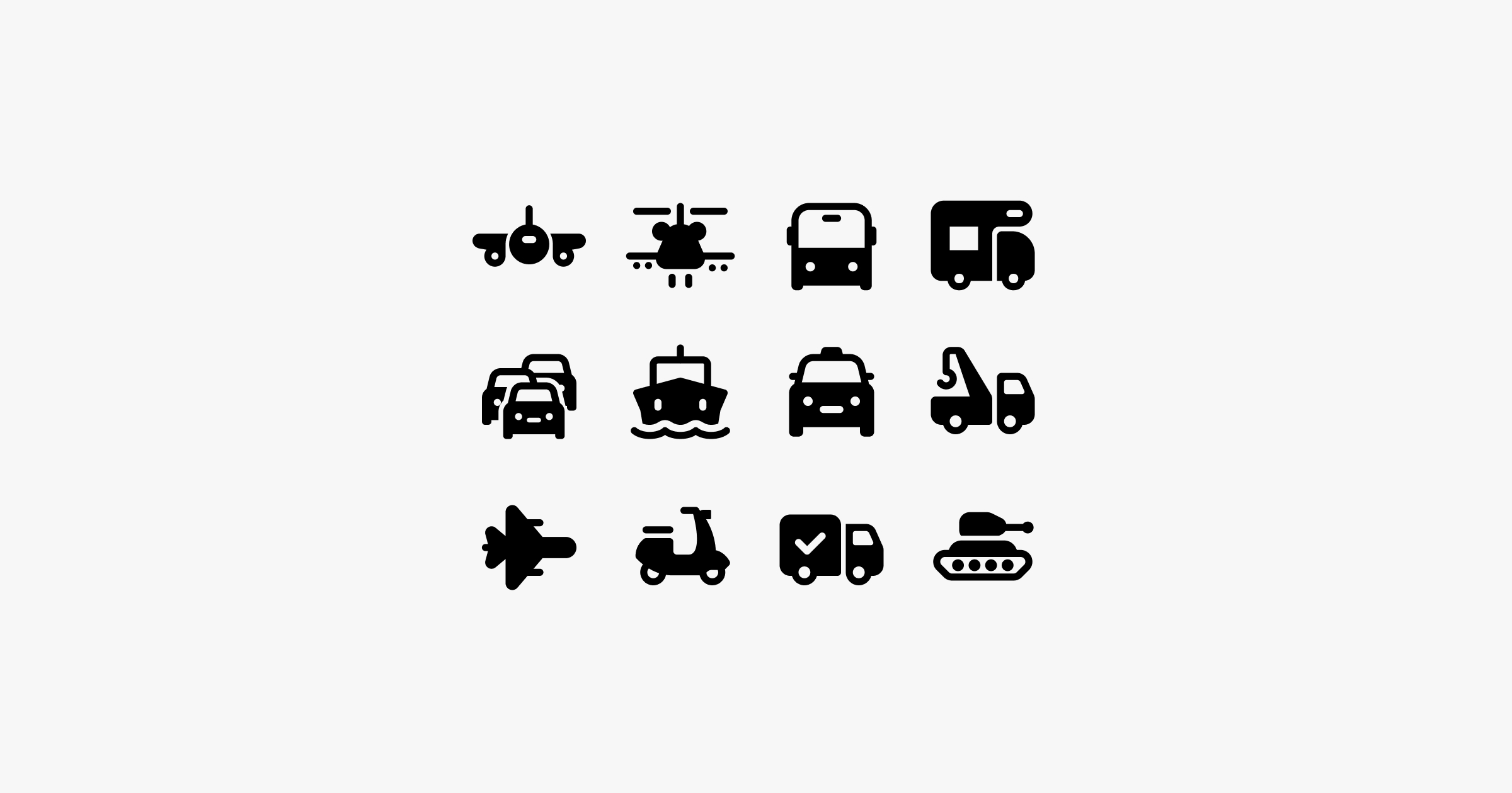 fluent system icons transport