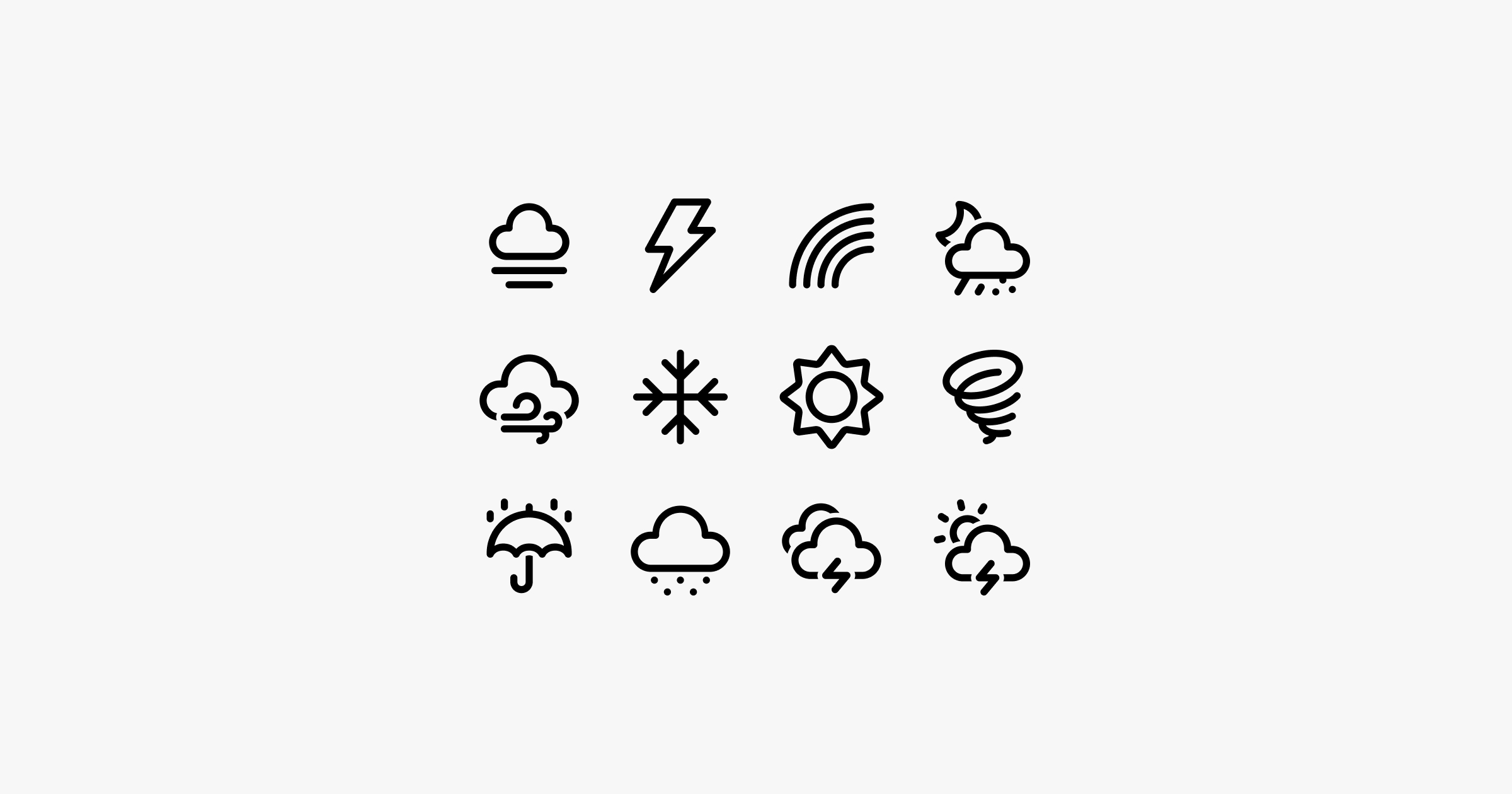 fluent system icons weather