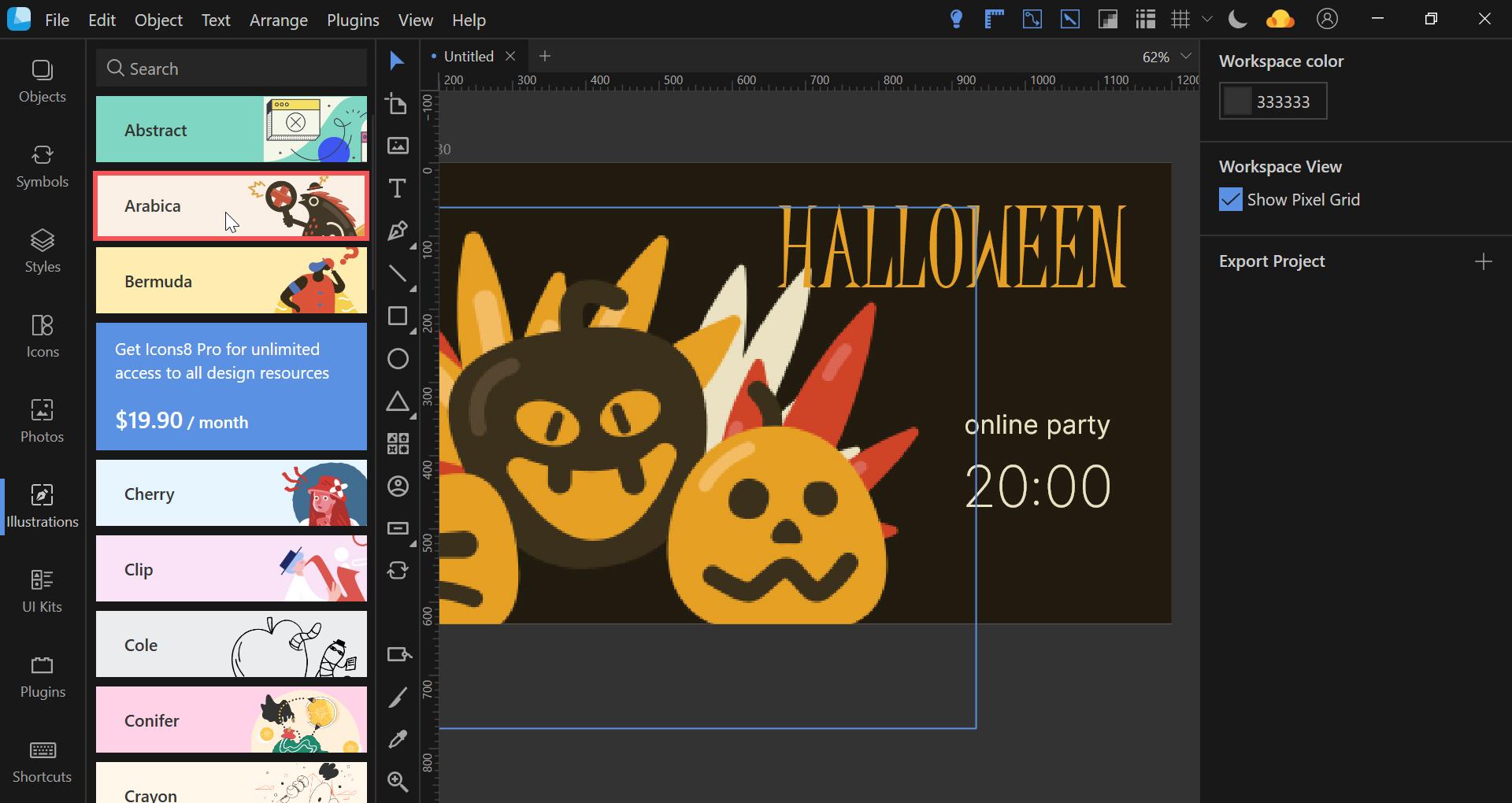 lunacy halloween banner tutorial
