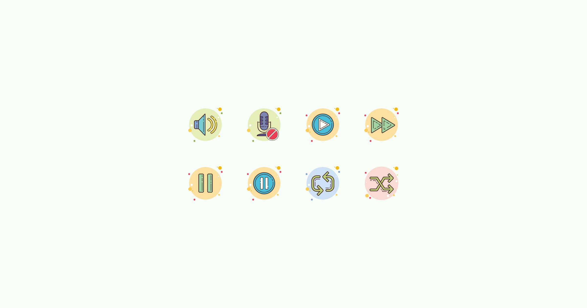 media icons circle-bubbles