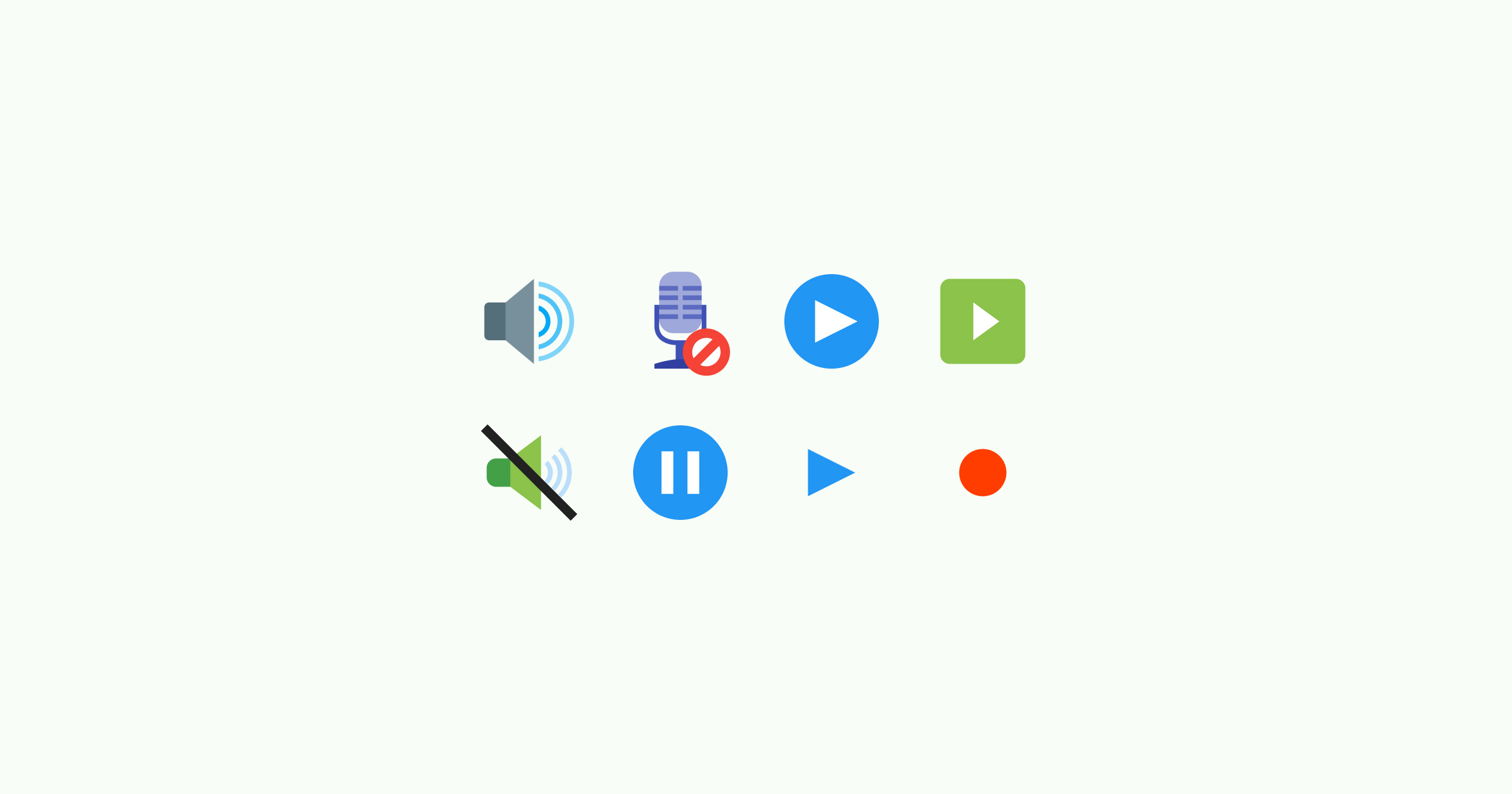 media icons color