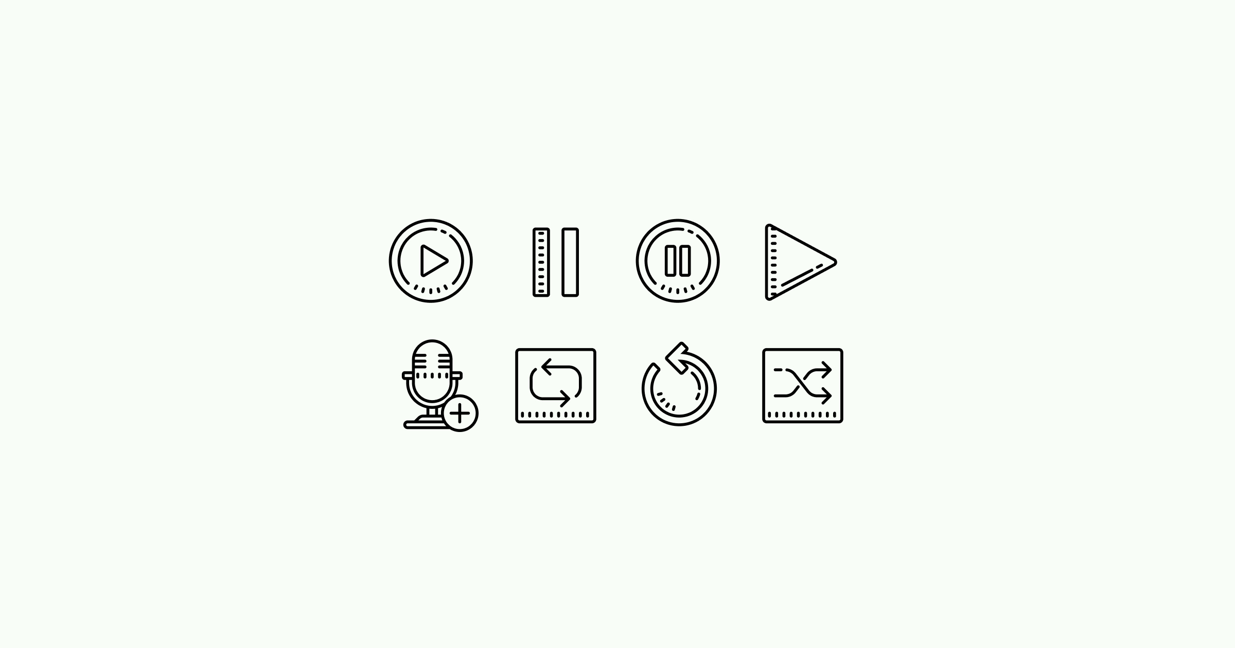 media icons cute-outline