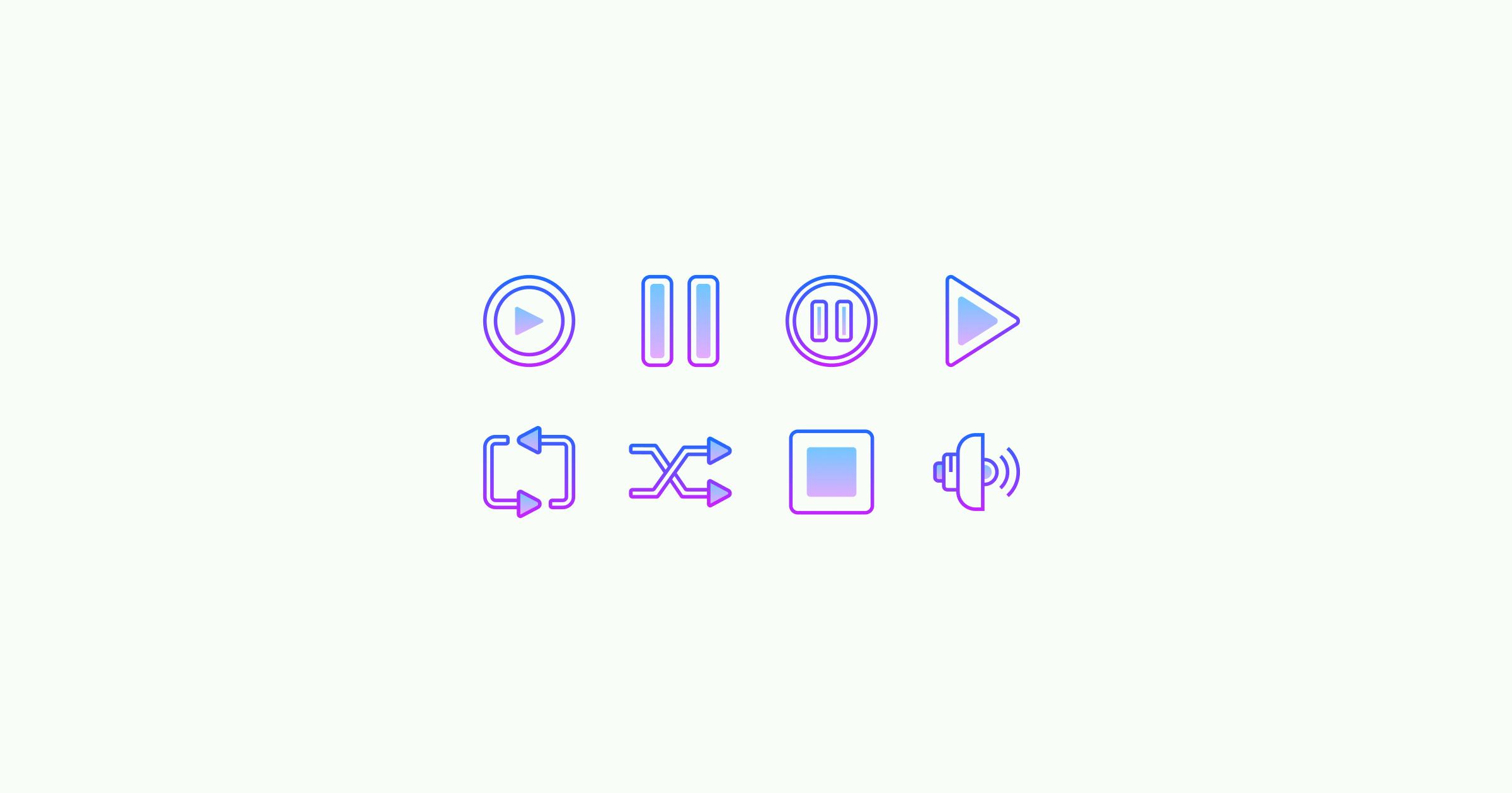 media icons gradient-line