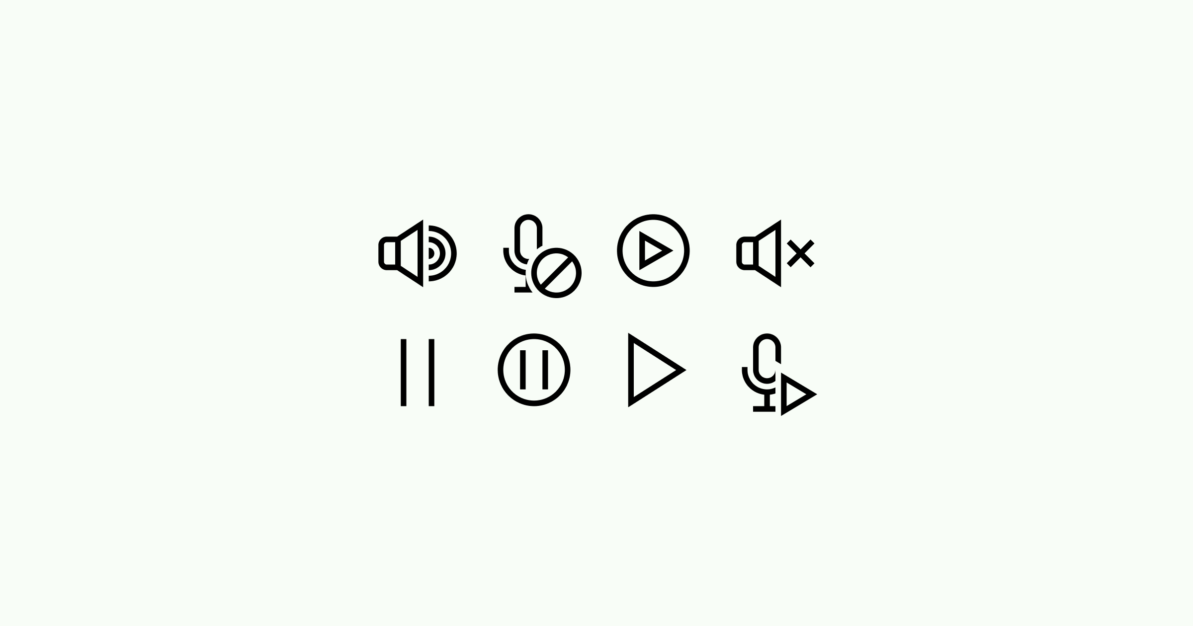 media icons simple-small