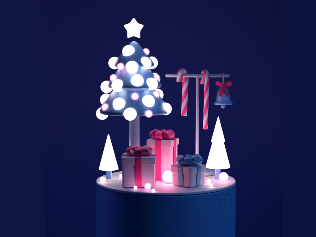 3d christmas objects