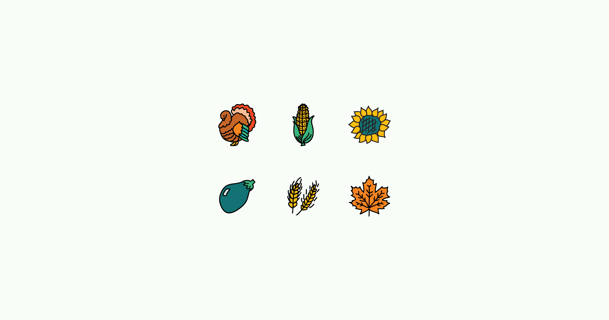 thanksgiving clipart illustrations icons