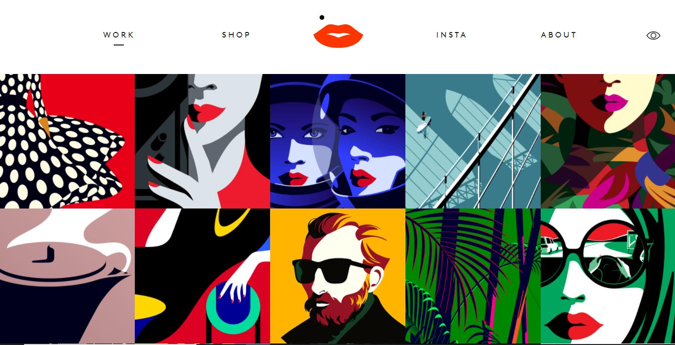 illustration portfolio example