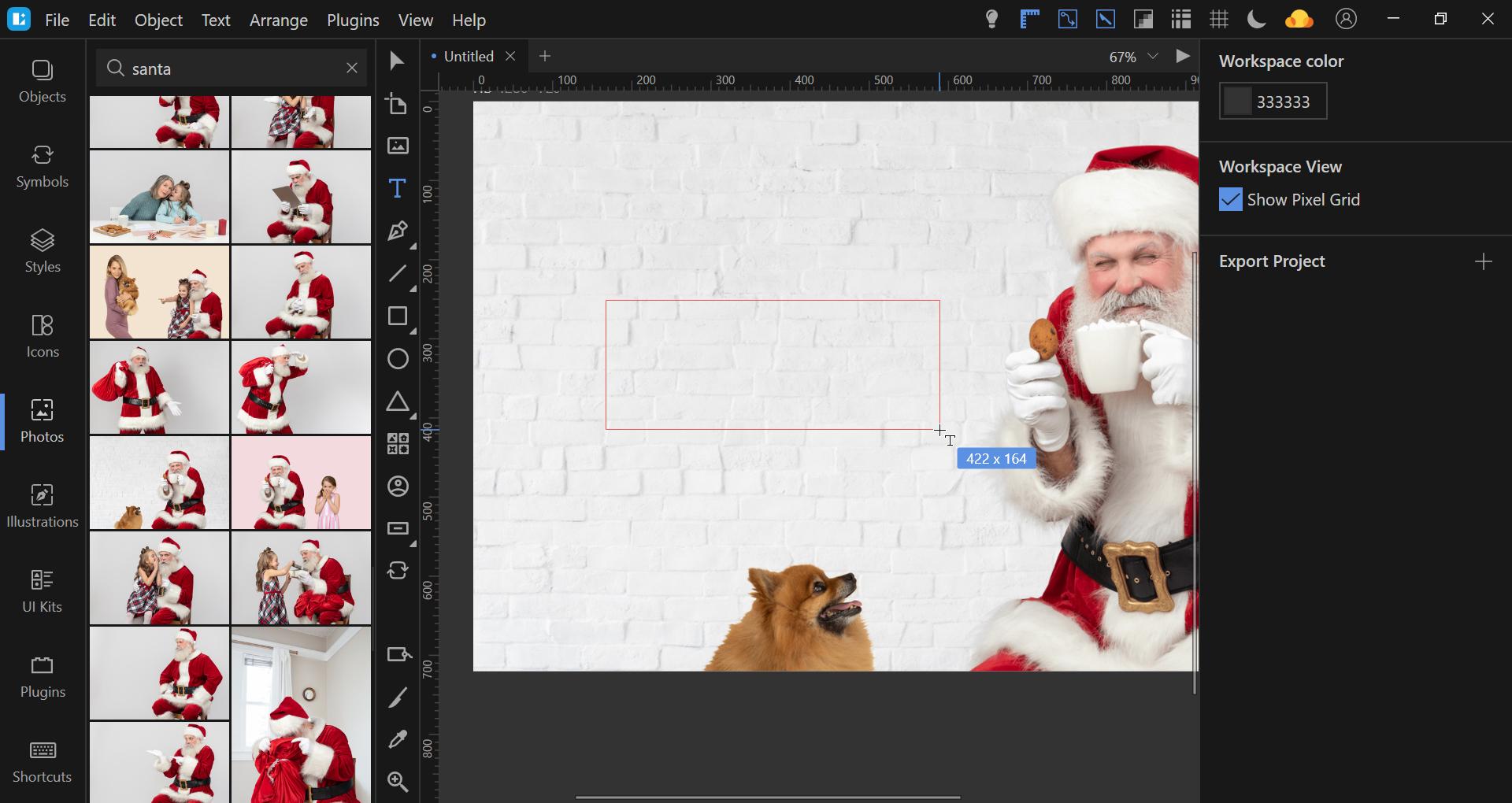 Lunacy tutorial christmas card design