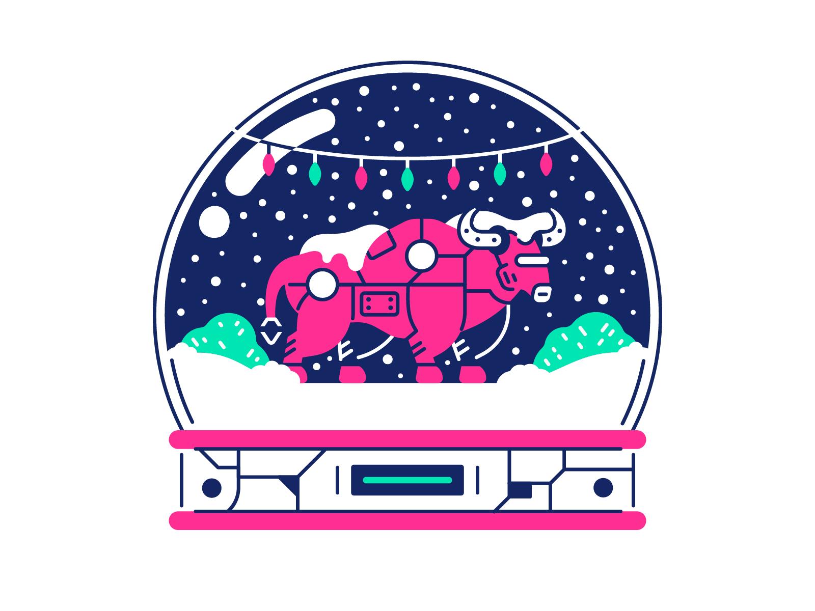 icons8 christmas illustration cyborg