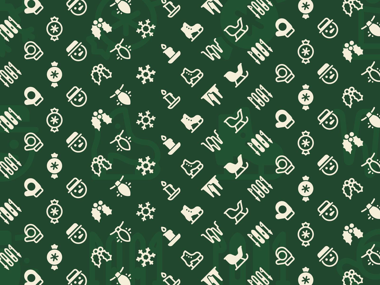 icons8 christmas illustration pattern