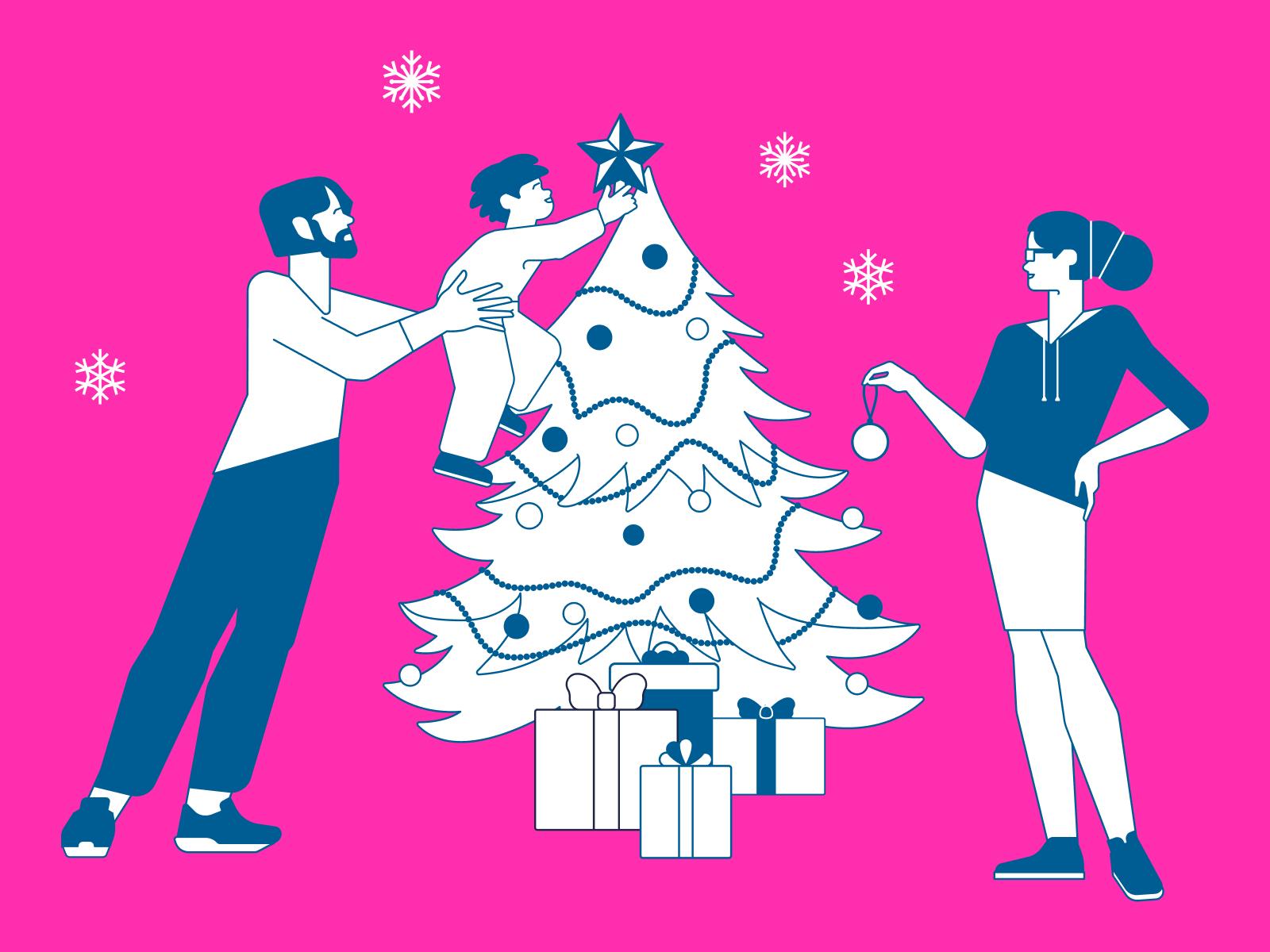 icons8 christmas illustration urban line
