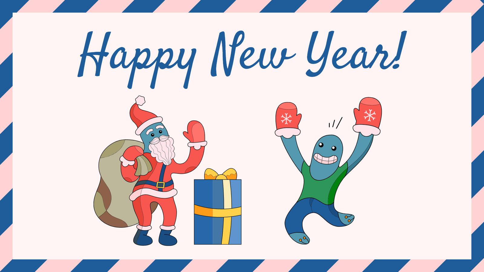 new year card in lunacy