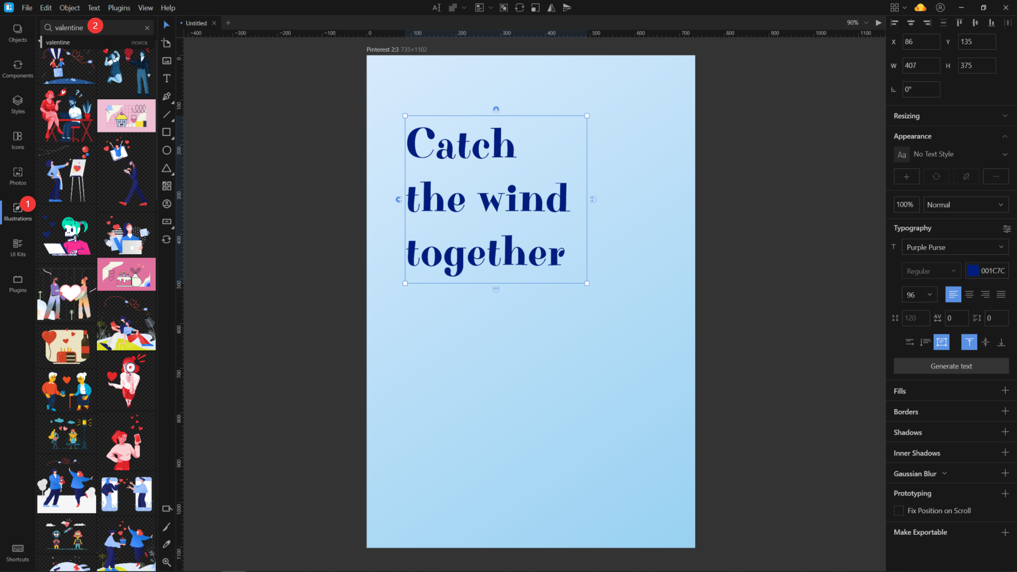 How To Create A Valentine Card In Lunacy: Simple Tutorial