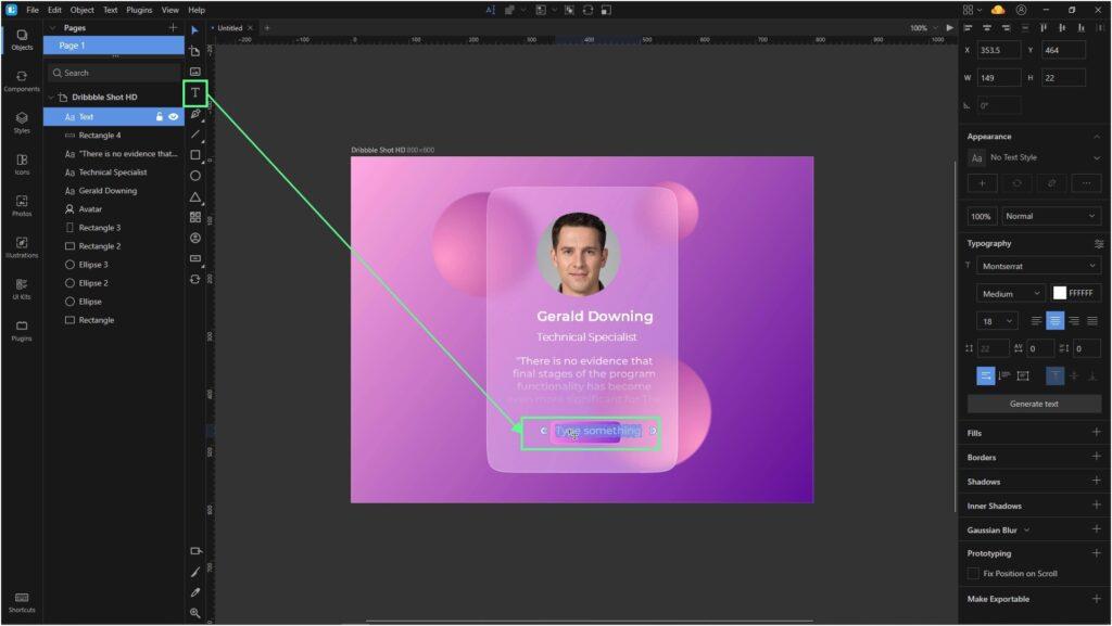 Lunacy tutorial: Glassmorphism in UI design