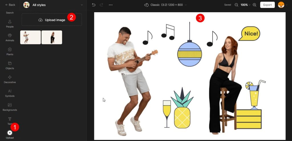 Creating custom vector illustrations from stock content