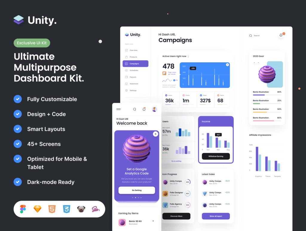 Unity Dashboard Kit
