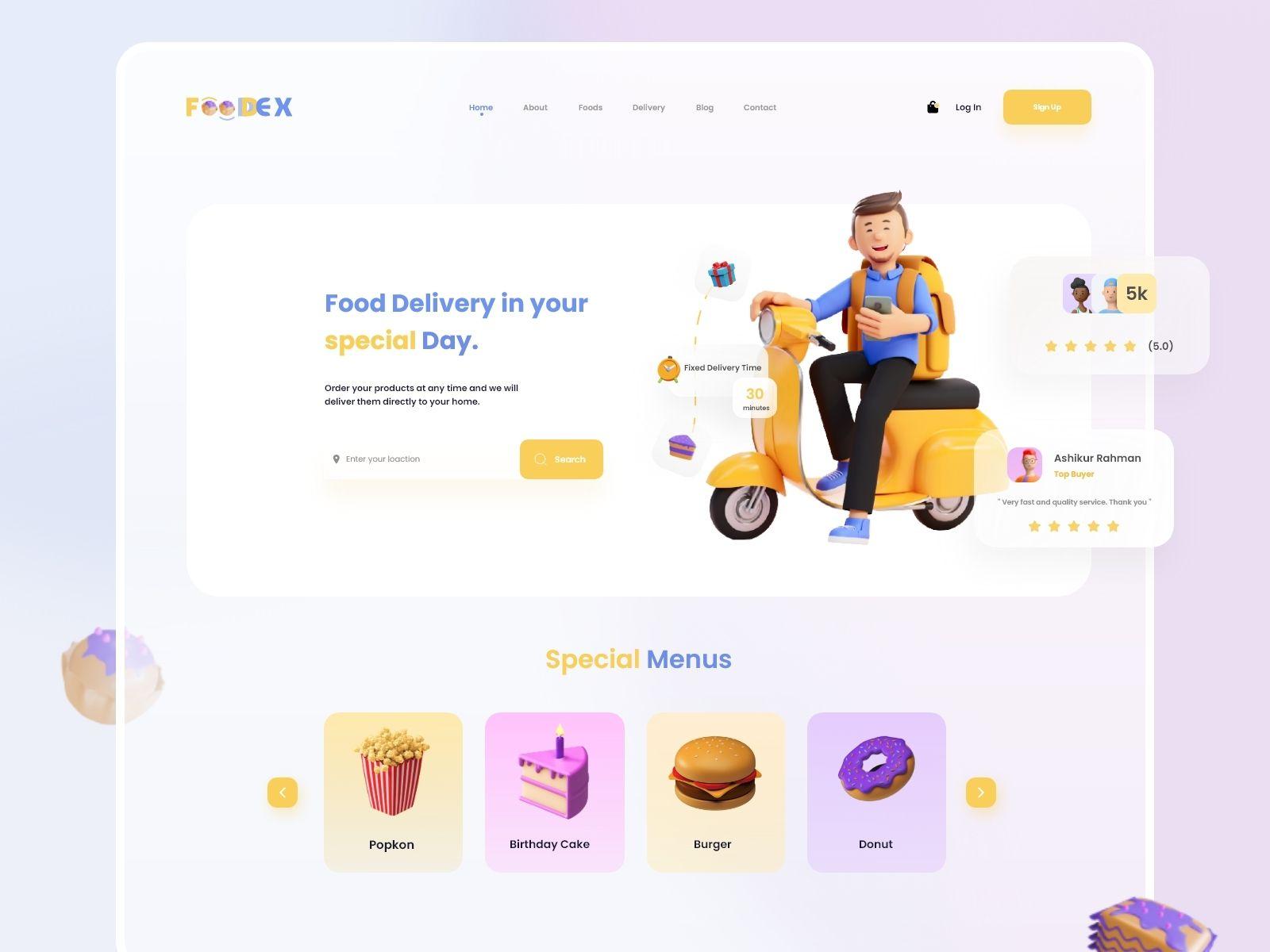 Web design inspiration: by Ashikur Rahman