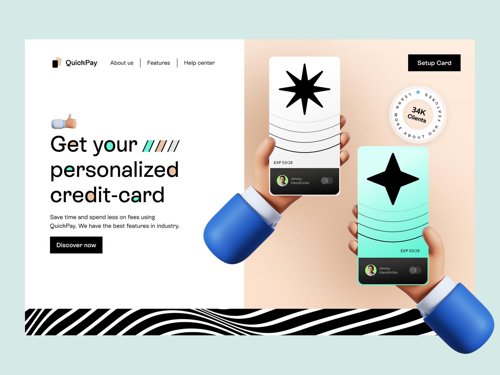 Web design inspiration: landing page by Emy Lascan