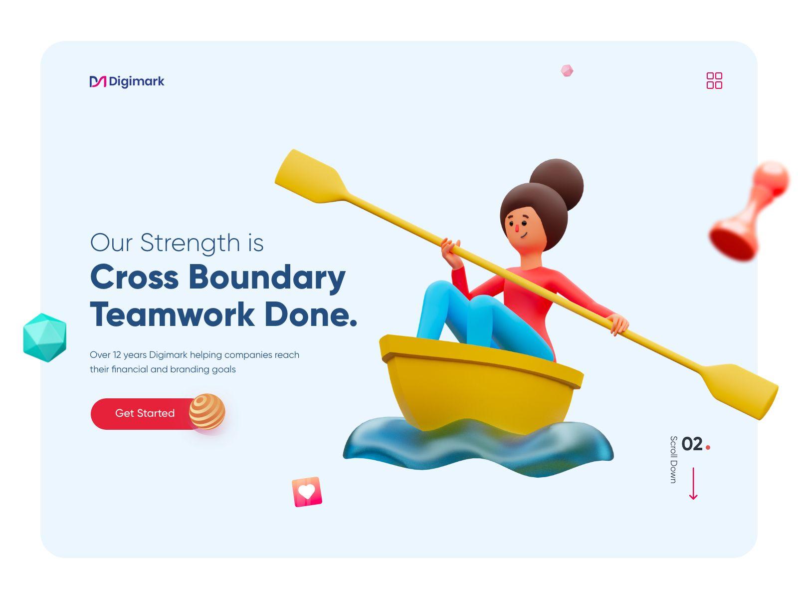 Web design inspiration: landing page by Ghulam Rasool