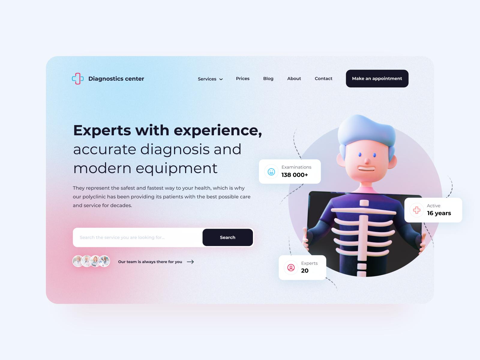 Web design inspiration: landing page by Jovana Peric