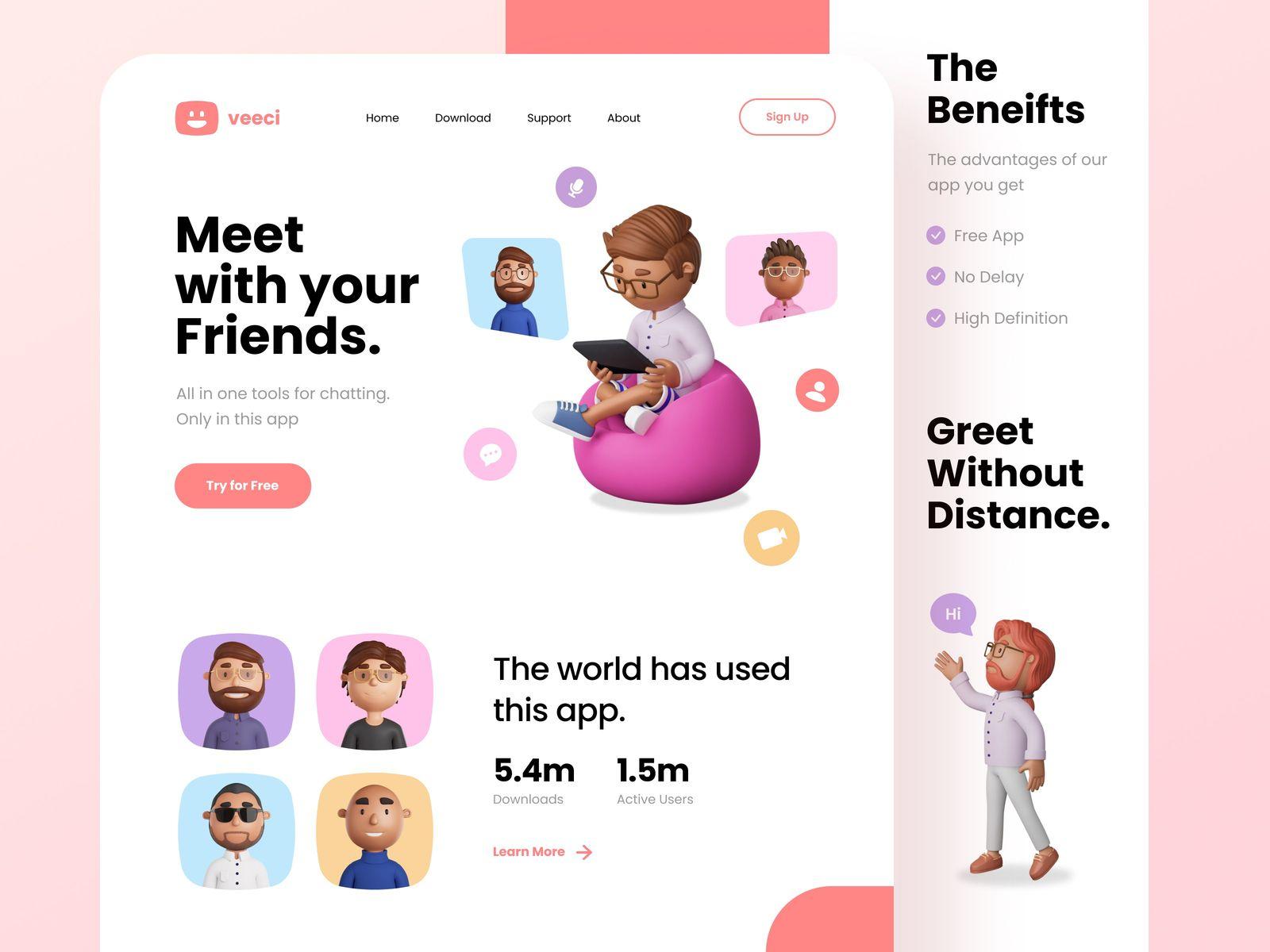 Web design inspiration: landing page by Kevin Al-Rizal
