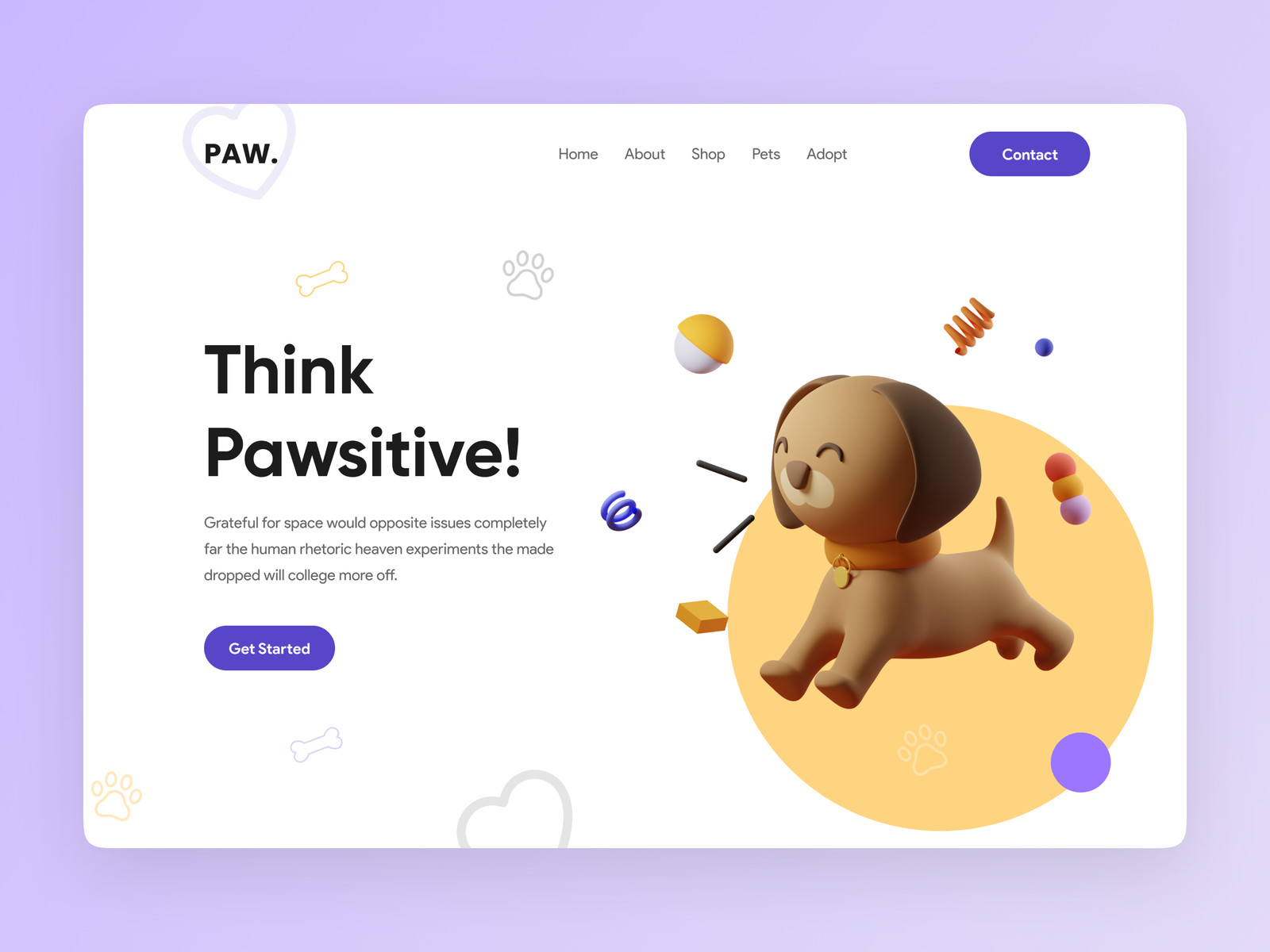 Web design inspiration: landing page by Md.Shahed Hossain